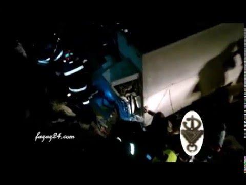 أهم لحظات إنقاذ حياة سائق كان محاصرا في قمرة القيادة بعد حادثة سير مروعة