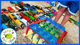 ORGANIZING A GAJILLION TRACKMASTER AND TOMY PIECES! Fun Toy Trains for Kids with Thomas and Friends