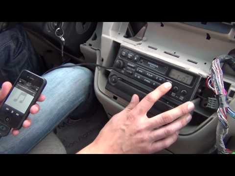 GTA Car Kits - Honda Odyssey 1999-2004 install of iPhone, iPod and AUX adapter