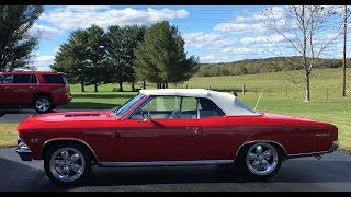 1966 Chevelle SS Convertible! 396 Engine, 4 Spd Trans!