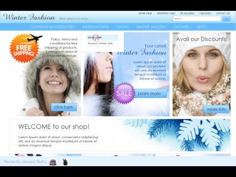 0 Winter Fashion Store osCommerce template