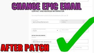 How to Change your Epic Games Email *AFTER PATCH*