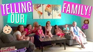TELLING OUR FAMILY MOM IS PREGNANT ON EASTER! BABY NUMBER 5 REACTIONS!