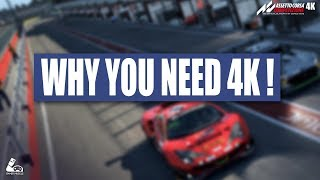 WHY YOU NEED 4K FOR ASSETTO CORSA COMPETIZIONE !