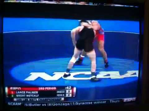 NCAA Divison 1 Wrestling finals 2010 Brent Metcalf Iowa vs Video