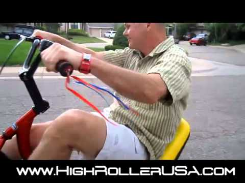 High Roller Adult Size Big Wheel Trike - First Ride
