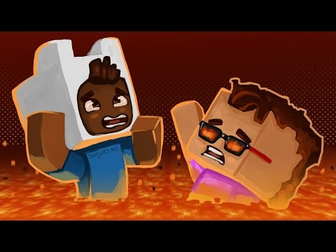 Gmod Death Run Funny Moments - Minecraft! Lava Jump Fail! (Funny Moments)
