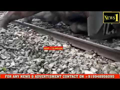 Elefant injured by train..very sad moment