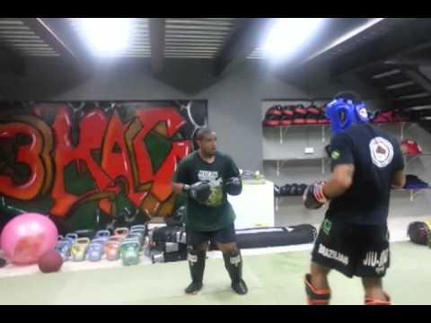 Oman Muay Thai: Rafael Lopes Pinto sparring at Muscat
