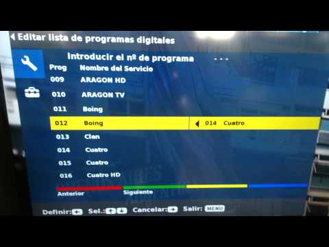 Ordenar canales Tv Sony Bravia KDL-32P3600