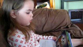 Norah reading a Christmas story
