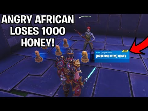 Angry African Loses 1000 Honey! (Scammer Gets Scammed) Fortnite Save The World thumbnail