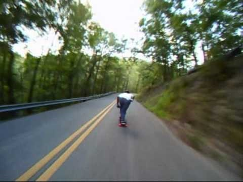 Longboard Crash at 45mph