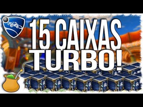Abrindo 15 Caixas Turbo no Rocket League. Peguei DE TUDO