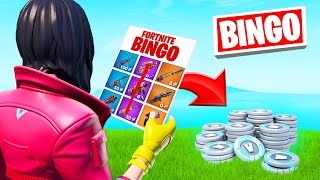 Get BINGO To WIN 100,000 V-BUCKS! (Fortnite Bingo)