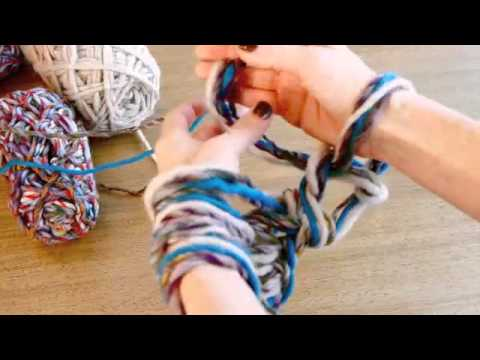 Crocheting Using Your Arms : Arm Knitting - The Fast & Easy Way to Knit a Scarf! - YouTube