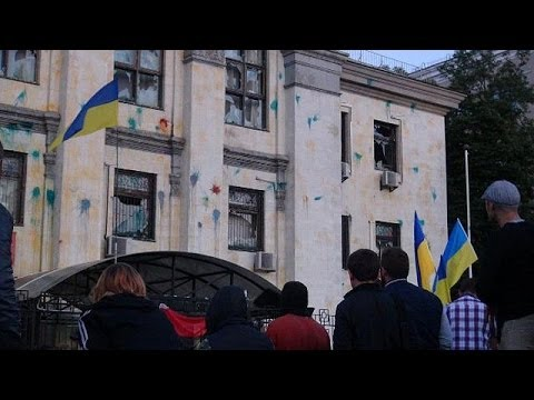 Ukraine: Protest outside Russian embassy - no comment