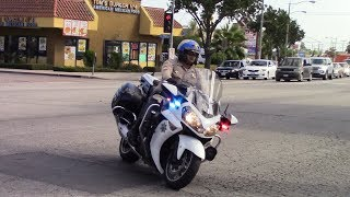 CHP Motorcycle Responding