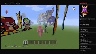 LegoNatGaming's Live PS4 Broadcast |Let's play Minecraft! Super flat stream