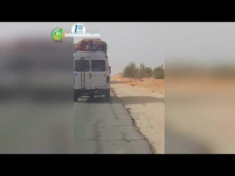شاهد هذا الفيديو لحادث سير على طريق الامل  كمثال علي التهور و الجنون و الحماقة عند بعض السائقين thumbnail