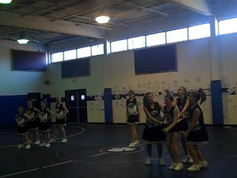 Grace Christian School Cheerleaders at the Pep Rally - 02/12/2010