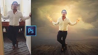 Fire Portrait Manipulation | Photo Effects l Photoshop Tutorial