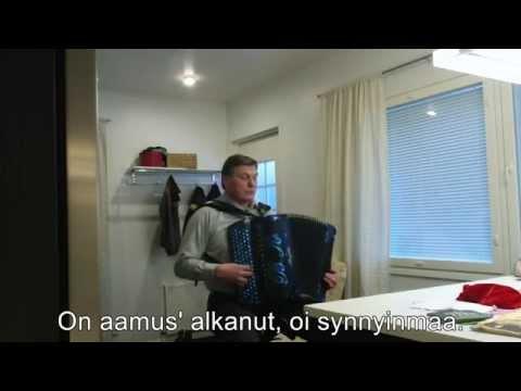 Finlandia-hymni, composed by Jean Sibelius, lyrics by VA Koskenniemi , played by accordion