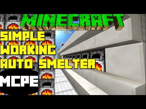 MCPE Working Simple SUPER SMELTER Even Distribution Minecraft Tutorial PE