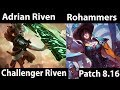 [ Adrian Riven ] Riven Vs Fiora [ Rohammers ] Top    Adrian New Acount Riven Gameplay