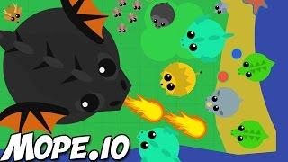 HUGE BLACK DRAGON! Mope.io Gameplay & NEW Animals! (Mope.io Black Dragon Update)