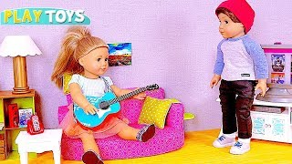 Play with American Girl Baby Dolls and Guitar Music Toy! 🎀