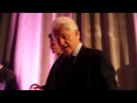 Shaking Bill Clinton's hand at HOPE Global Forum