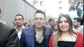 مصطفي قمر وزوجته في فرح كريمة المنتج نصر محروس