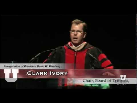 Inauguration Ceremony: Board of Trustees Chairman Clark Ivory