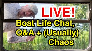 Live! Boat Life Chat, Q&A + a nose around the canal(... maybe some kind of cooking too?)