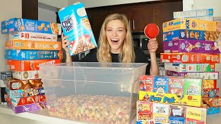 Making 100 Cereals Into A GIANT Rice Krispie Treat | Kelsey Impicciche