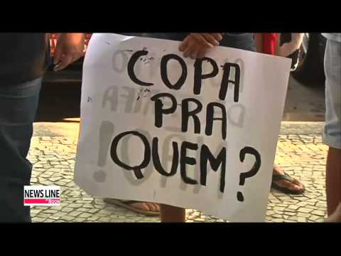 Protesters rally against high cost of World Cup in Brazil
