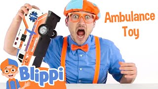 Blippi Toys with an Ambulance  | Teach Colors