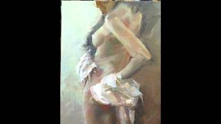 Oil Painting Nude  -  based on a Photograph by Evgeniy Shaman