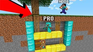 Minecraft Noob vs. Pro : UNDERGROUND SECRET BASE challenge - funny Minecraft battle - Florie