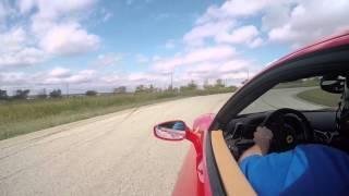 Instructor hot lap in a Ferrari 458