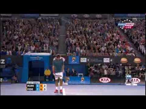 Roger Federer vs Andy Murray  - Australian Open 2014 3rd Set (tiebreak)