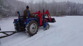 Its winter, time to get some firewood with the foton tractor