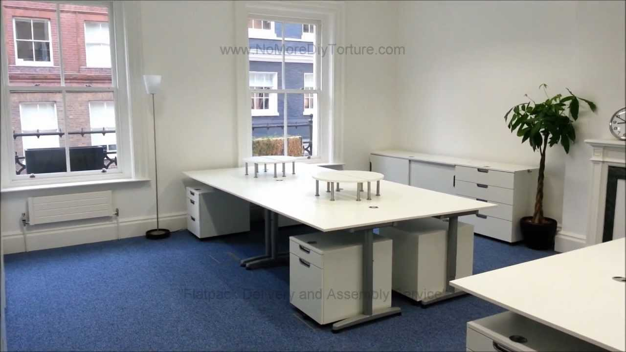 IKEA Office Flatpack Furniture - Galant Series - YouTube