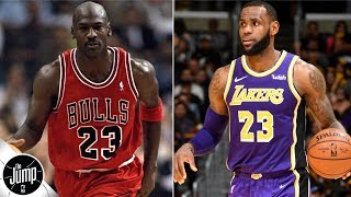 Can LeBron James ever pass Michael Jordan in the eyes of NBA peers? | The Jump