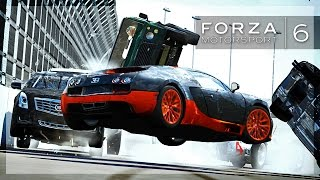 Forza 6 - CROWD SURFING IN FORZA! (Massive Wrecks, Hits, Action)