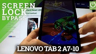 Hard Reset LENOVO Tab 2 A7-10 - Bypass Passwod by Factory Mode