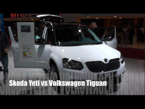 Skoda Yeti 2016 vs Volkswagen Tiguan 2016