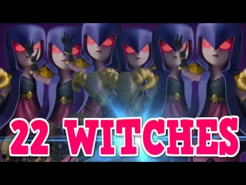 Clash of Clans - 22 Witches Attacks (Epic Giant Bomb Fail)