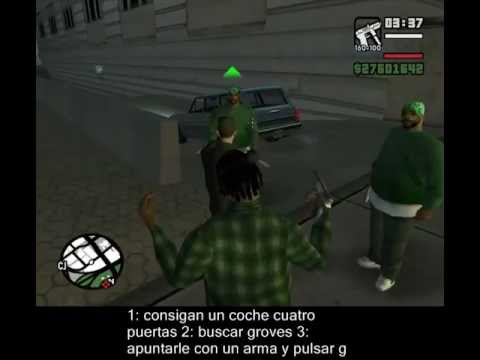 gta san andreas pc como reclutar groves youtube. Black Bedroom Furniture Sets. Home Design Ideas